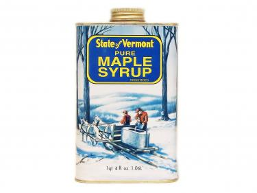 Vermont Tin Quart - 100% Pure Vermont Maple Syrup