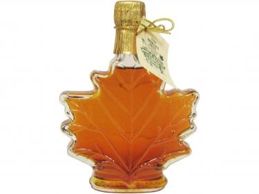 Maple Leaf Shaped Glass 250ml - 100% Pure Vermont Maple Syrup
