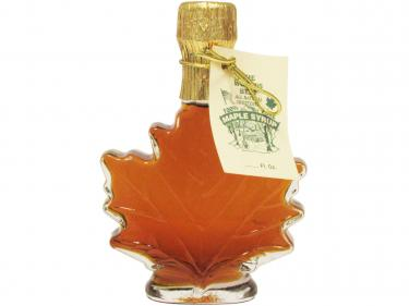 Maple Leaf Shaped Glass 100ml - 100% Pure Vermont Maple Syrup
