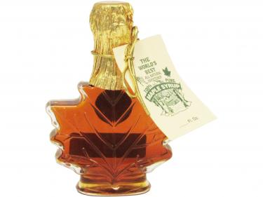 Maple Leaf Shaped Glass 50ml - 100% Pure Vermont Maple Syrup