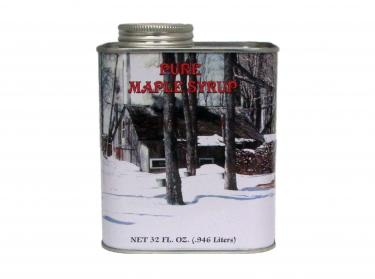 Quart Tin - 100% Pure Vermont Maple Syrup